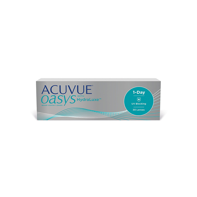 Kontaktinių lęšių Acuvue Oasys dėžutė