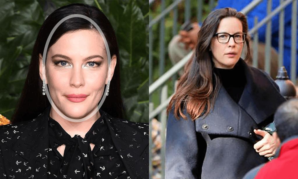 Kairėje moteris su apibraukta veido forma,  dešinėje - nustebusi moteris su akiniais