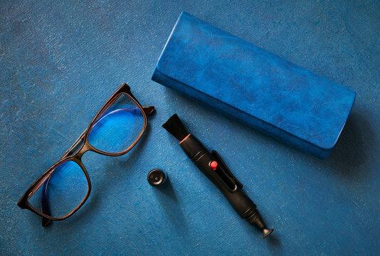 Akinių dėklas, akiniai